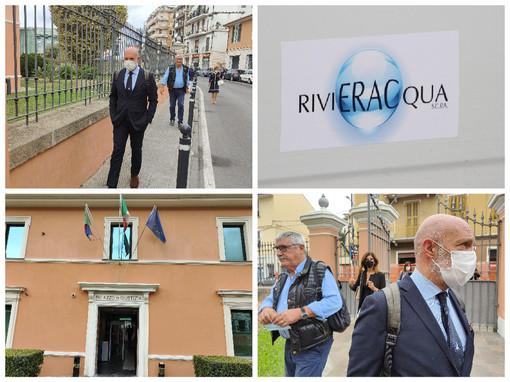 Imperia, davanti al Tribunale Fallimentare sfilano i vertici di Rivieracqua: oggi udienza per la revoca del concordato preventivo (foto)