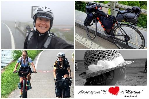 Da Imperia alla Lapponia in bici, Natalie Allegra pedala veloce per sostenere 'Il cuore di Martina': nonostante il meteo instabile è arrivata in Svizzera