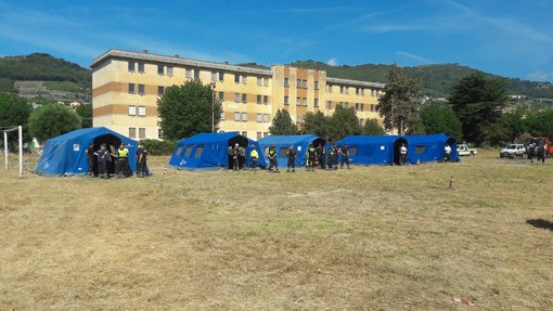 Terminata a Taggia la fase di esame per i volontari di Protezione Civile della provincia di Imperia (Foto)