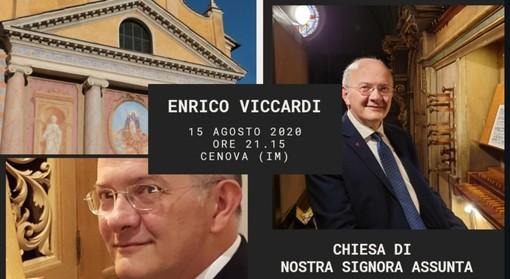 Rezzo: sabato a Cenova, concerto per organo con Enrico Viccardi nella chiesa di Nostra Signora Assunta