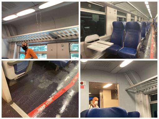 'Docce' e gavettoni inclusi nel biglietto: odissea sul treno Genova-Ventimiglia (foto e video)