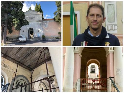 """Diano Marina: terminata la prima riqualificazione del cimitero, Za Garibaldi: """"Proseguiremo la messa in sicurezza e la conservazione architettonica"""" (Foto)"""