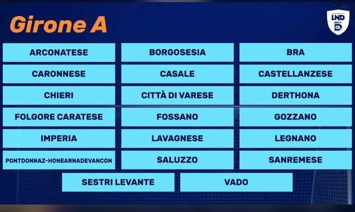 Calcio, Serie D: Sanremese e Imperia nel gruppo A, ecco tutte le avversarie delle squadre ponentine