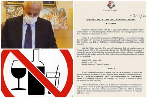 Imperia, dietro front di Scajola, cambia l'ordinanza 'anti-vetro': il divieto posticipato alle 22