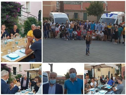Imperia, l'iniziativa del ristoratore Bavassano che ha omaggiato con una cena i volontari della Croce bianca per ringraziarli dell'impegno profuso durante l'emergenza Covid (foto e video)