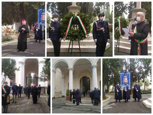 """Con una cerimonia al cimitero di Oneglia Imperia ricorda le vittime del covid, Scajola: """"Virus, nemico invisibile ha stravolto le nostre vite da un anno"""" (foto e video)"""