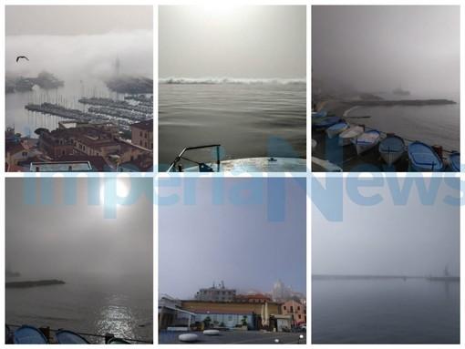 Dopo Genova anche Imperia si sveglia con la nebbia di mare, ecco il 'Caligo' (Foto e Video)