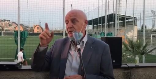 """Calcio. Il messaggio precampionato del presidente Ivaldi: """"Serve responsabilità o rischiamo la chiusura fino al vaccino"""" (VIDEO)"""