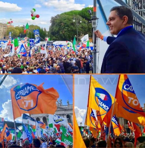 Alla manifestazione di Roma in Piazza San Giovanni, folta delegazione ligure al seguito del Presidente Giovanni Toti