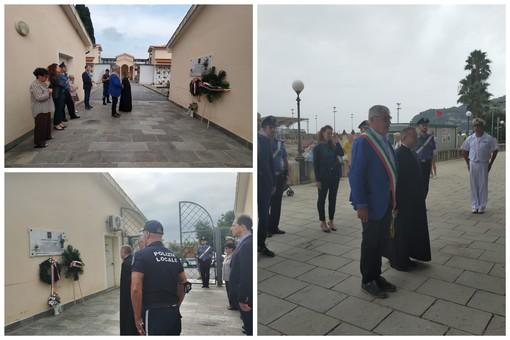 Diano Marina, sindaco Chiappori e autorità comunali rendono omaggio alla lapide di Giorgio Langella