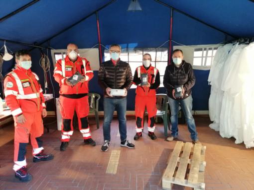 Coronavirus: Ventimiglia, donate 200 dalla Fondazione Casartelli mascherine alla Croce Verde (Foto)