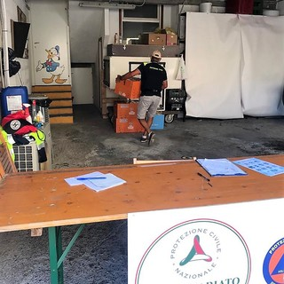San Bartolomeo al Mare: distribuzione di generi alimentari, rifornito magazzino della Protezione Civile