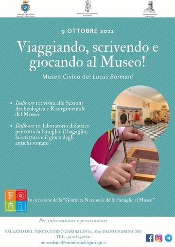 """Diano Marina, sabato il 'Lucus Bormani' aderisce alla """"Giornata Nazionale delle Famiglie al Museo"""""""
