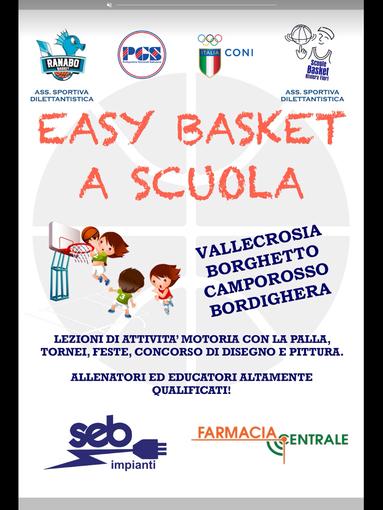 """Bordighera: """"Easy Basket a Scuola"""", iniziato un mese fa il progetto scolastico di avvicinamento alla pallacanestro"""