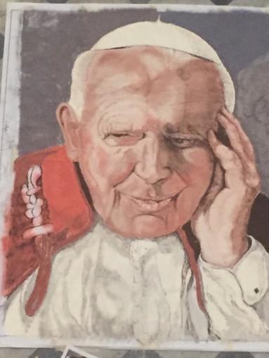 Karol Wojtyla (quadro eseguito da Massimiliano Utzeri della Compagnia di via Carducci)