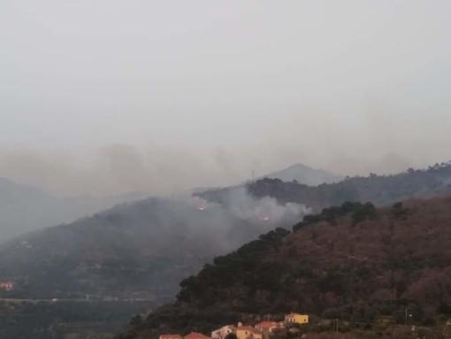 Incendi di ieri sera a Villa Faraldi e Sanremo: nell'imperiese arriva il Canadair per spegnere definitivamente le fiamme