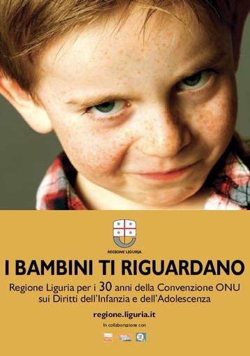 Minori: al via domani, campagna di Regione Liguria sui diritti del fanciullo in vista 30° anniversario Convenzione ONU