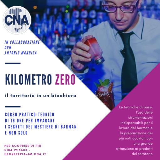 """""""Kilometro zero-il territorio in un bicchiere"""": al via il nuovo corso barman della Cna Imperia"""