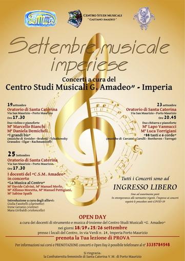 'Settembre musicale imperiese', da domenica al via stagione concertistica del Centro studi musicali 'G. Amadeo'