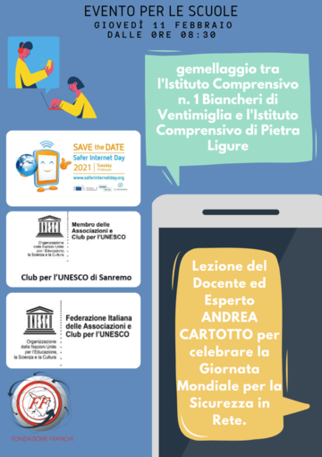 Safer Internet Day 2021: giovedì grande evento web con oltre mille studenti collegati