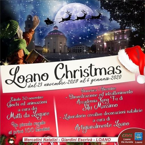 Sabato 30 e domenica 1 dicembre un programma strepitoso ai mercatini di Natale di Loano