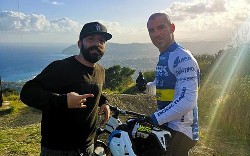 Marco Melandri insieme a Fabio Martino