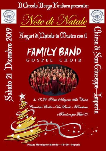 Imperia: tra le iniziative natalizie del Circolo Borgo Fondura anche un concerto gospel con la 'Family Band Gospel Choir'