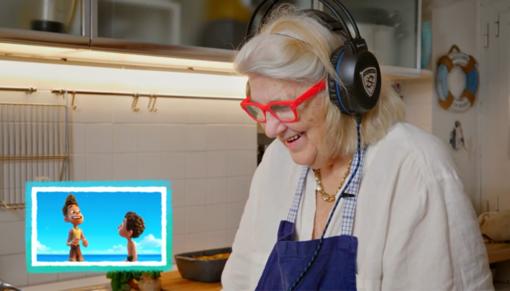 Nonna Bianca nel video della Pixar sulla pasta ligure di 'Luca'