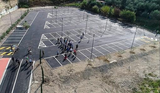 Imperia: inaugurato il parcheggio a monte del cimitero di Oneglia, suonato il 'silenzio' per i defunti