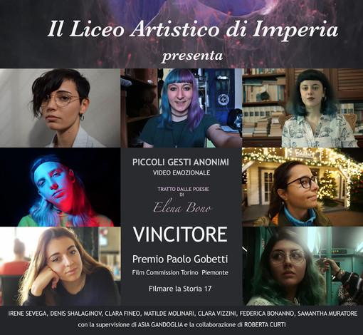 """Imperia, gli studenti del liceo """"Amoretti & Artistico""""  vincono il primo premio al concorso """"Filmare la storia"""""""