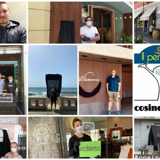 Coronavirus, drappo nero per ristoratori, bar e stabilimenti balneari, anche a Imperia la protesta #cosinonapro (foto e video)