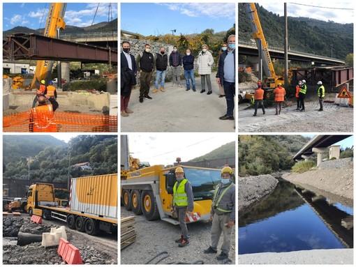 """Pontedassio, dopo trent'anni gli abitanti di Santa Lucia avranno un ponte per attraversare l'Impero, Calzia: """"Passaggio prima auto tra un mese"""" (foto e video)"""