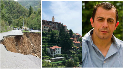 La strada crollata, Triora, il sindaco Massimo Di Fazio