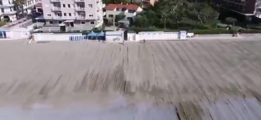 Diano Marina, raddoppia l'arenile delle spiagge di borgo Paradiso, pronto il nuovo fronte mare (video)