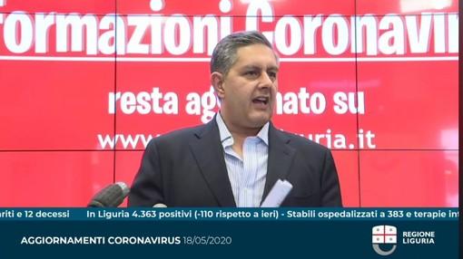 """Coronavirus, Toti: """"Giornata importante per la Liguria. Oggi ha riaperto oltre l'80% delle attività commerciali"""""""