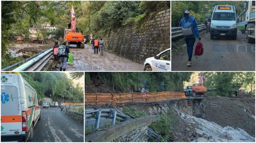 Montalto Carpasio: dopo il crollo, prevista per stasera la riapertura della strada Provinciale 548