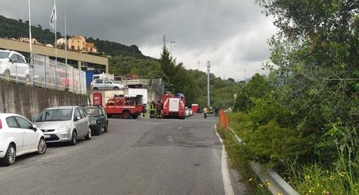 Imperia: odore di gas a Barcheto, intervengono i vigili del fuoco (foto)